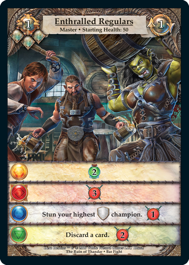 Hero Realms - Enthralled Regulars Card | Ruin of Thandar Cooperative Campaign Deck
